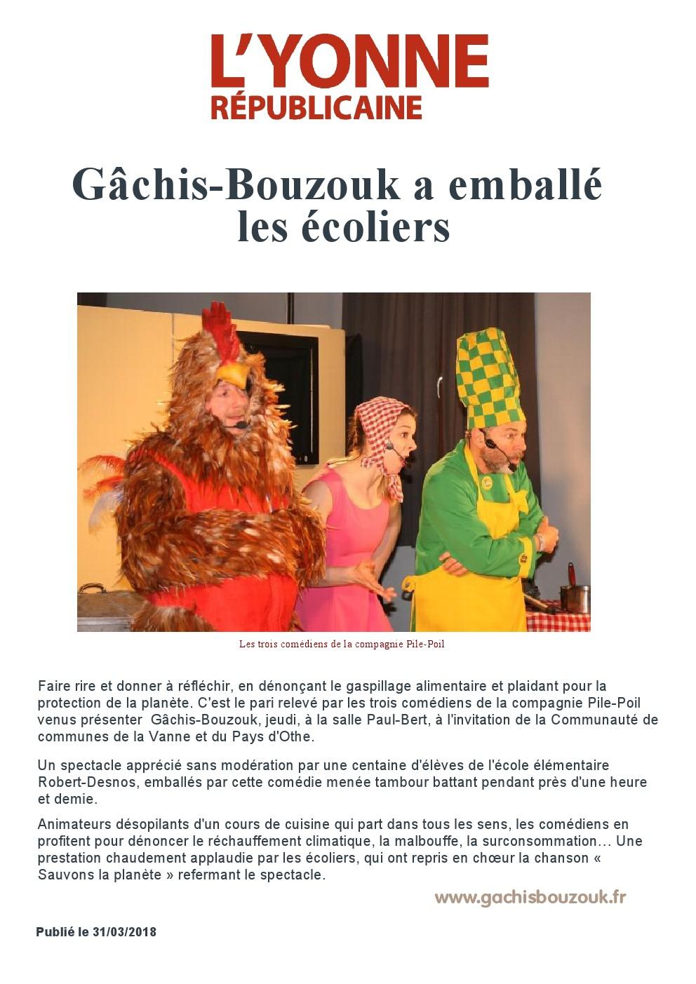 ARTICLE YONNE REPUBLICAINE GACHIS